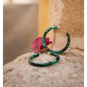 Round Hoops- Emerald