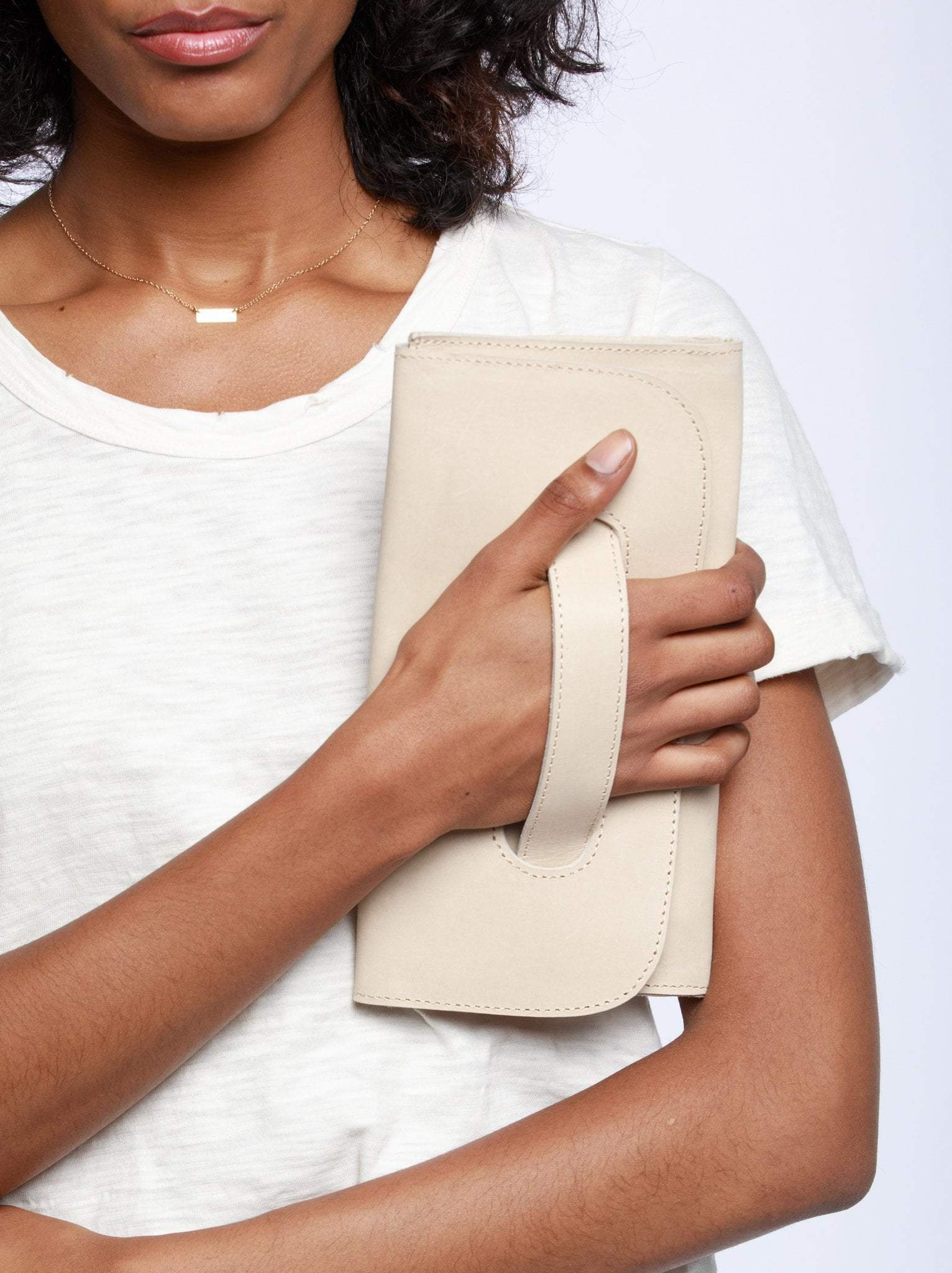 Mare Handle Clutch- Bone