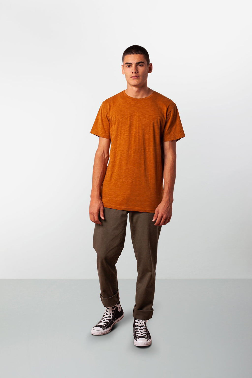 Basic Slub T-Shirt- Almond