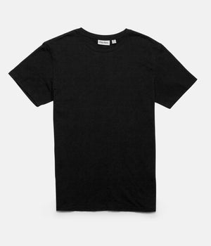 Basic Slub T-Shirt- Black