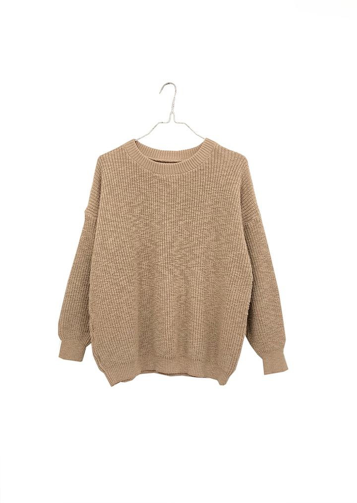 Crew Pull On Sweater- Camel