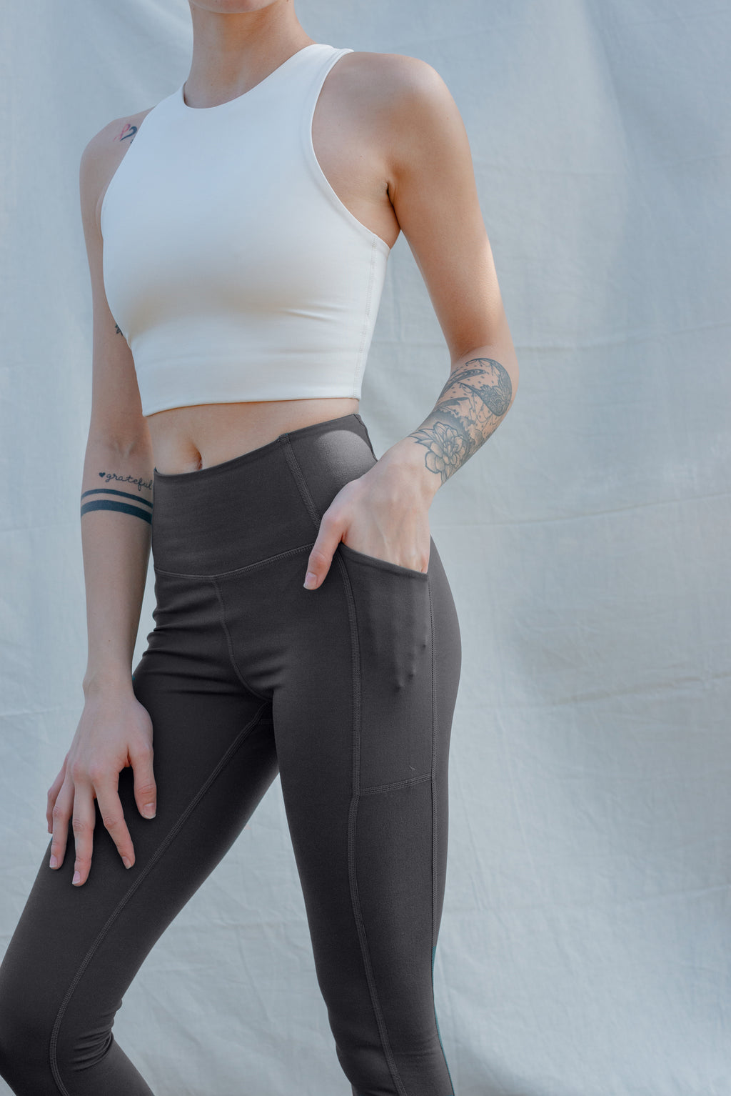 Compressive High Rise Pocket Legging- Moon