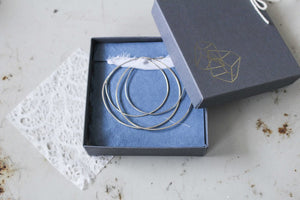 Endless Layer Hoops- Silver