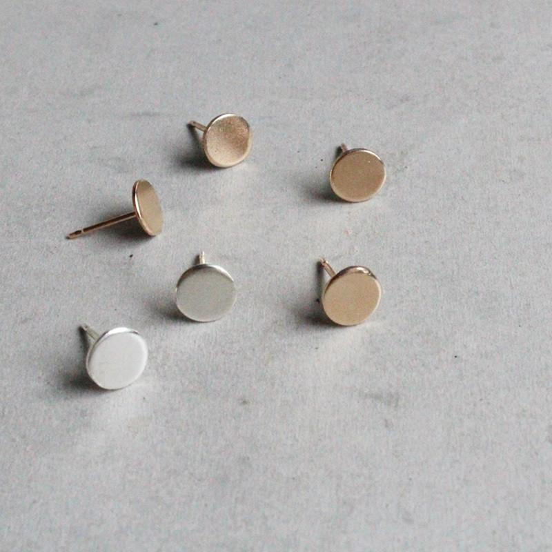 Polka Dot Studs- Sterling