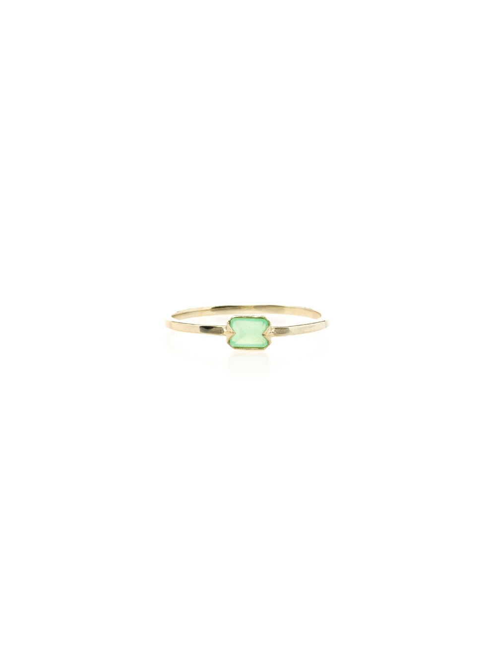 Far Out Ring- Chrysoprase