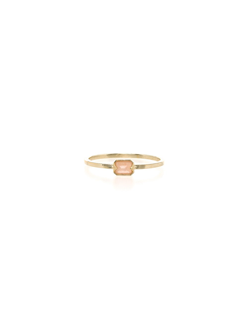 Far Out Ring- Peach Moonstone