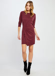 Christelle Dress - Burgundy