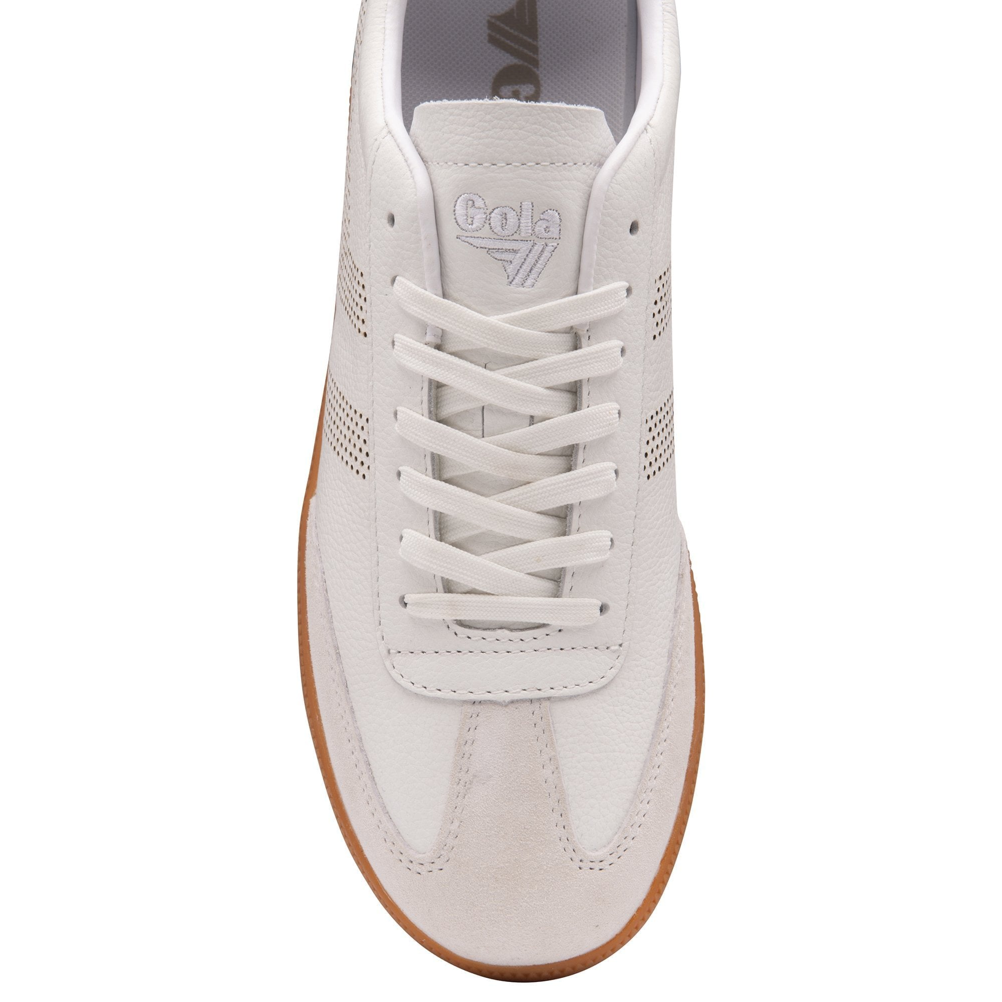Ace Leather - White/ Gum