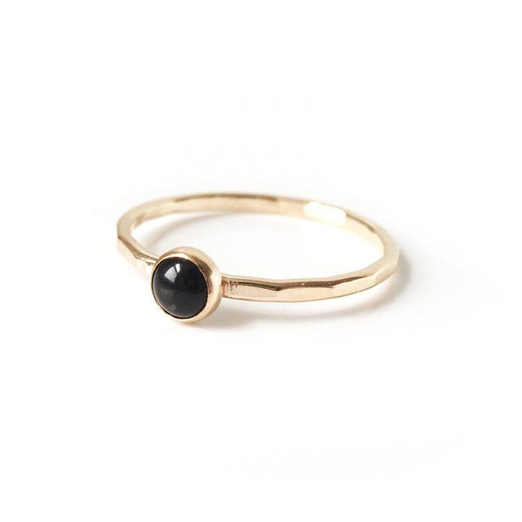 Onyx Stone Stacking Ring