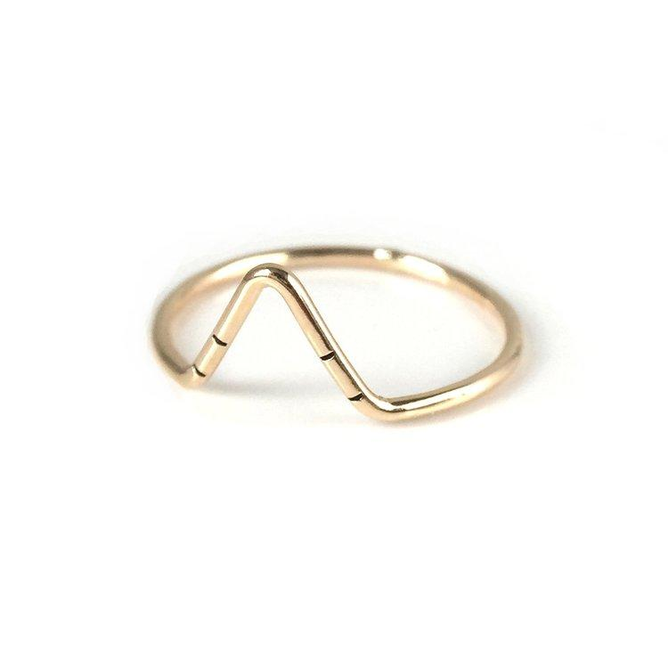 Peak Stacking Ring- Gold Filled