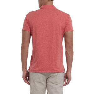 Hartford Nep Jersey Polo- Red