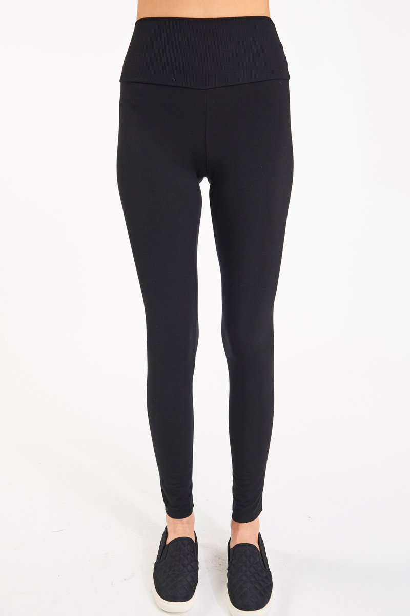 High Waist Legging- Black