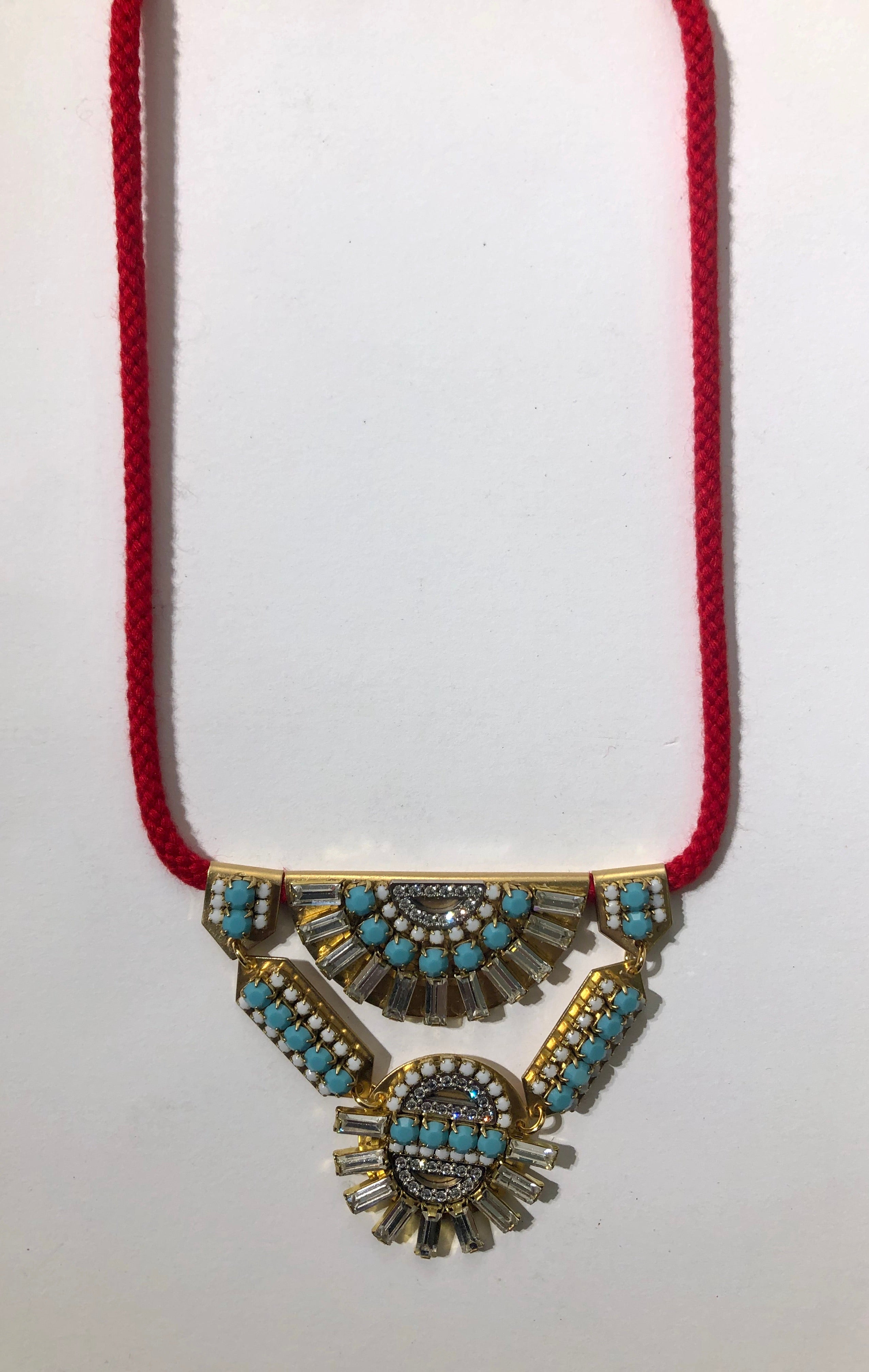 Statement Necklace Red