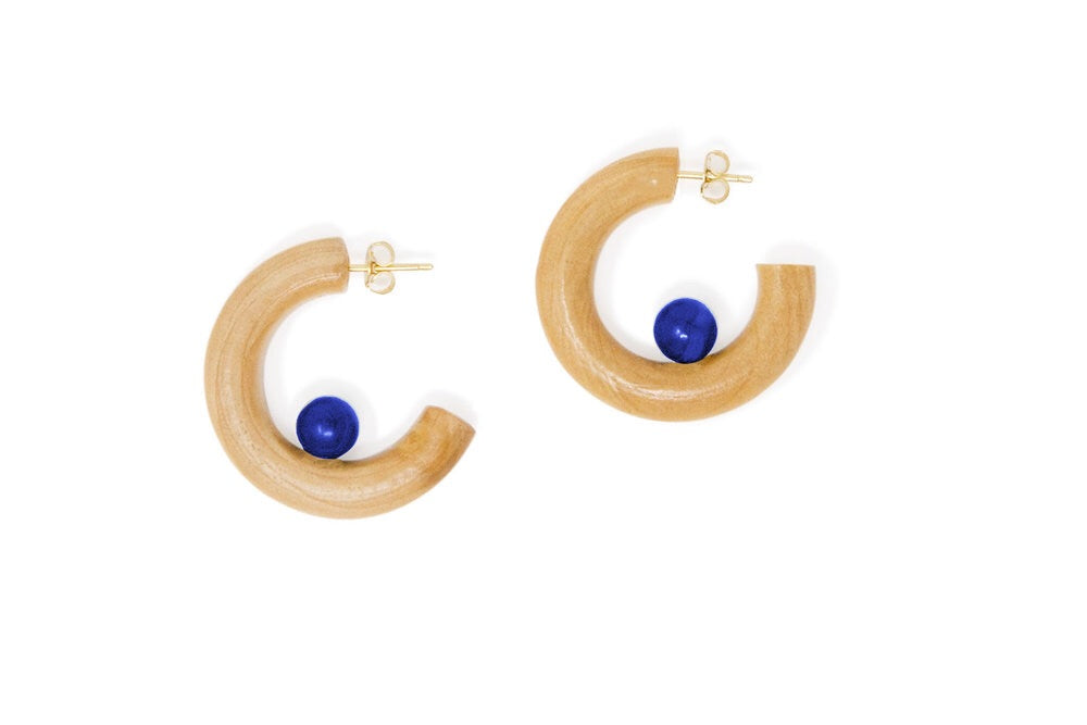 Blue Lapis Midi Hoops