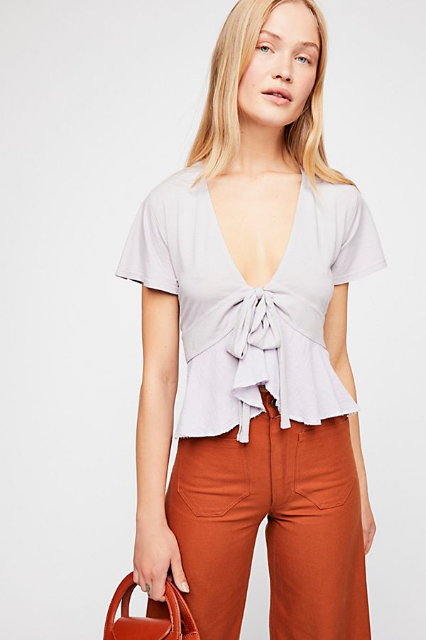 Knot Me Tee- Lilac