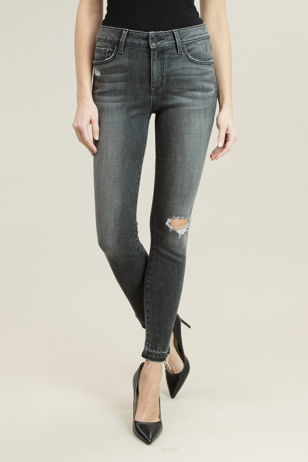 Madison Mid Rise Cropped Skinny