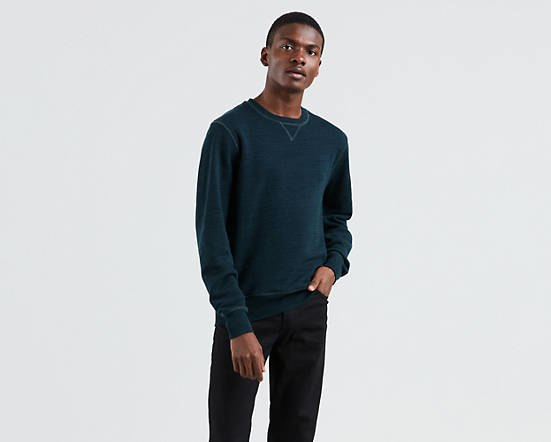 LEVI'S® MADE & CRAFTED® Crewneck Sweatshirt- Heather Blue
