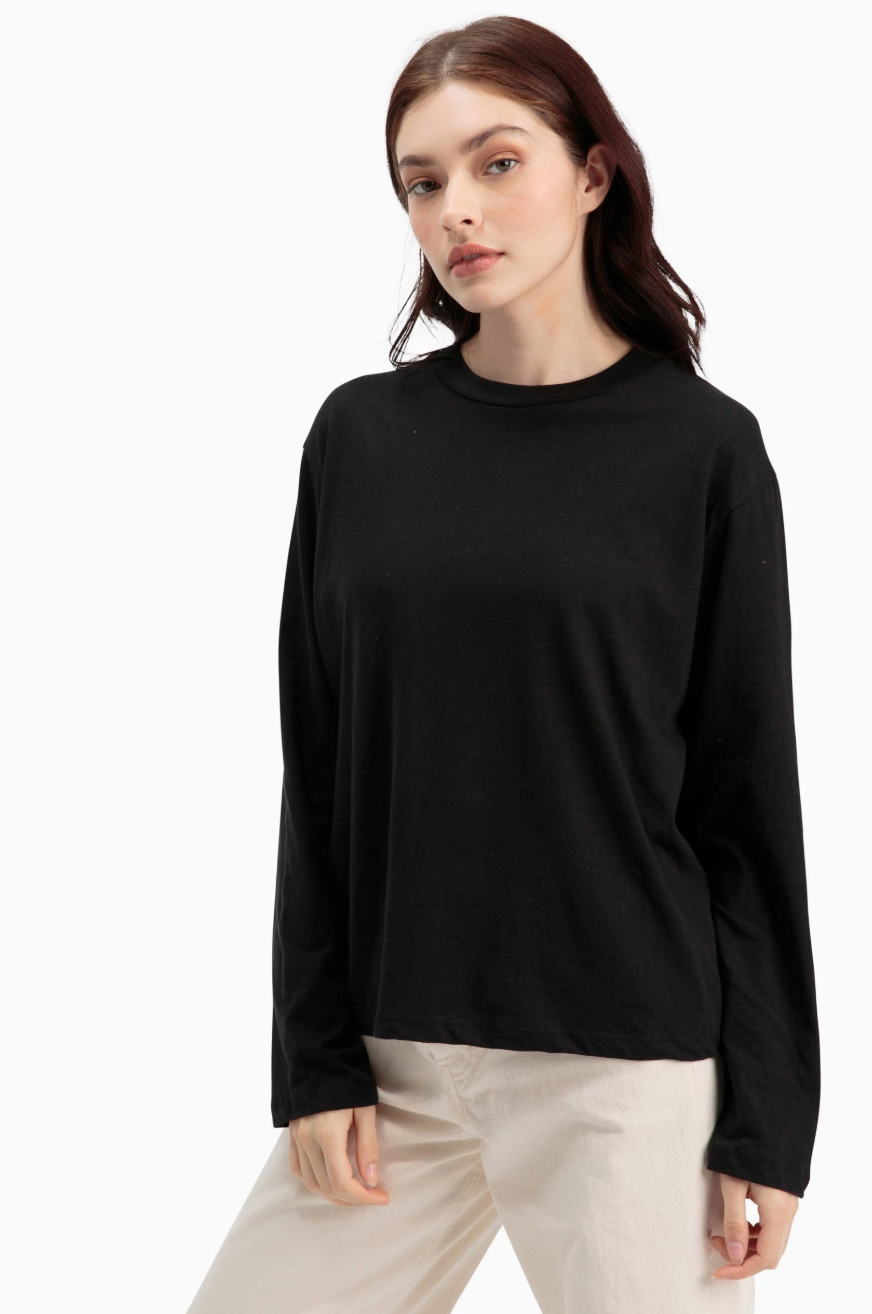 Long Sleeve Tee- Black