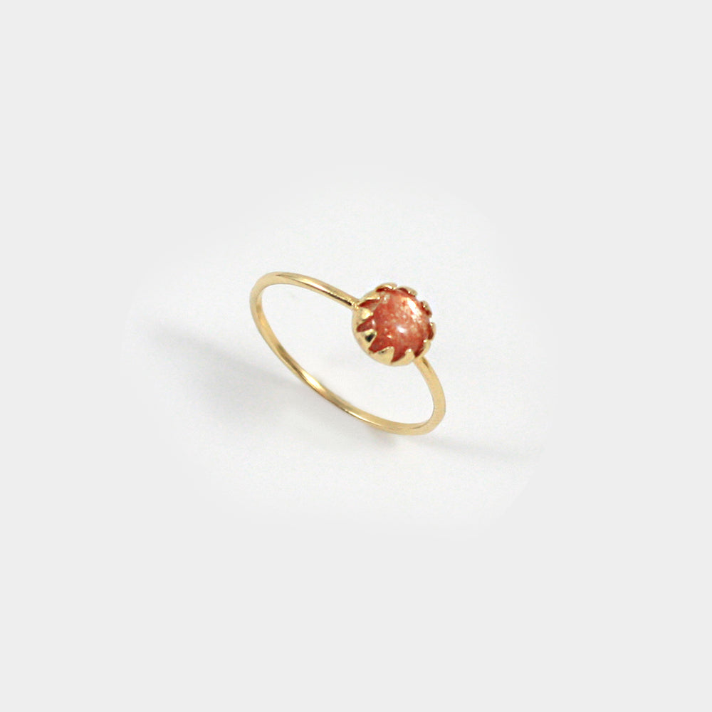 Moon Ray Ring-Sunstone