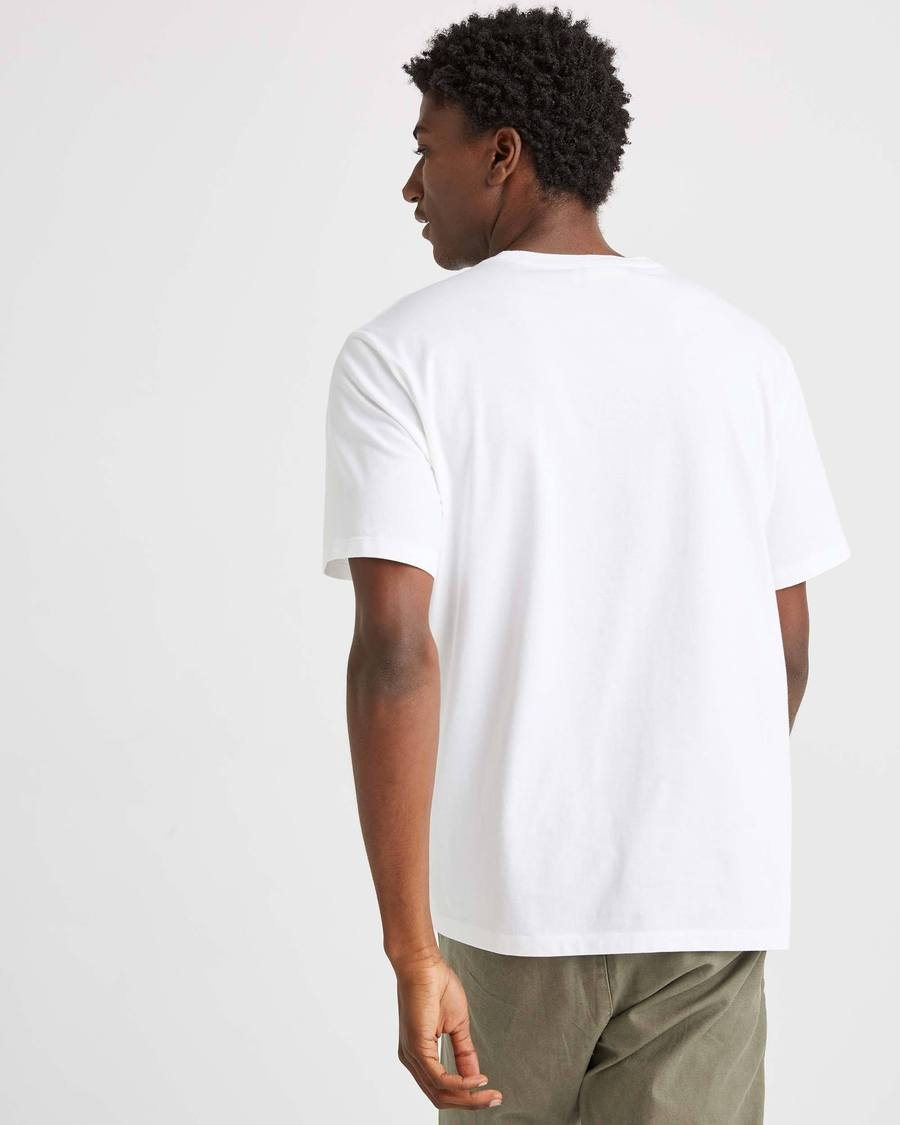 Short Sleeve Pocket Tee- white