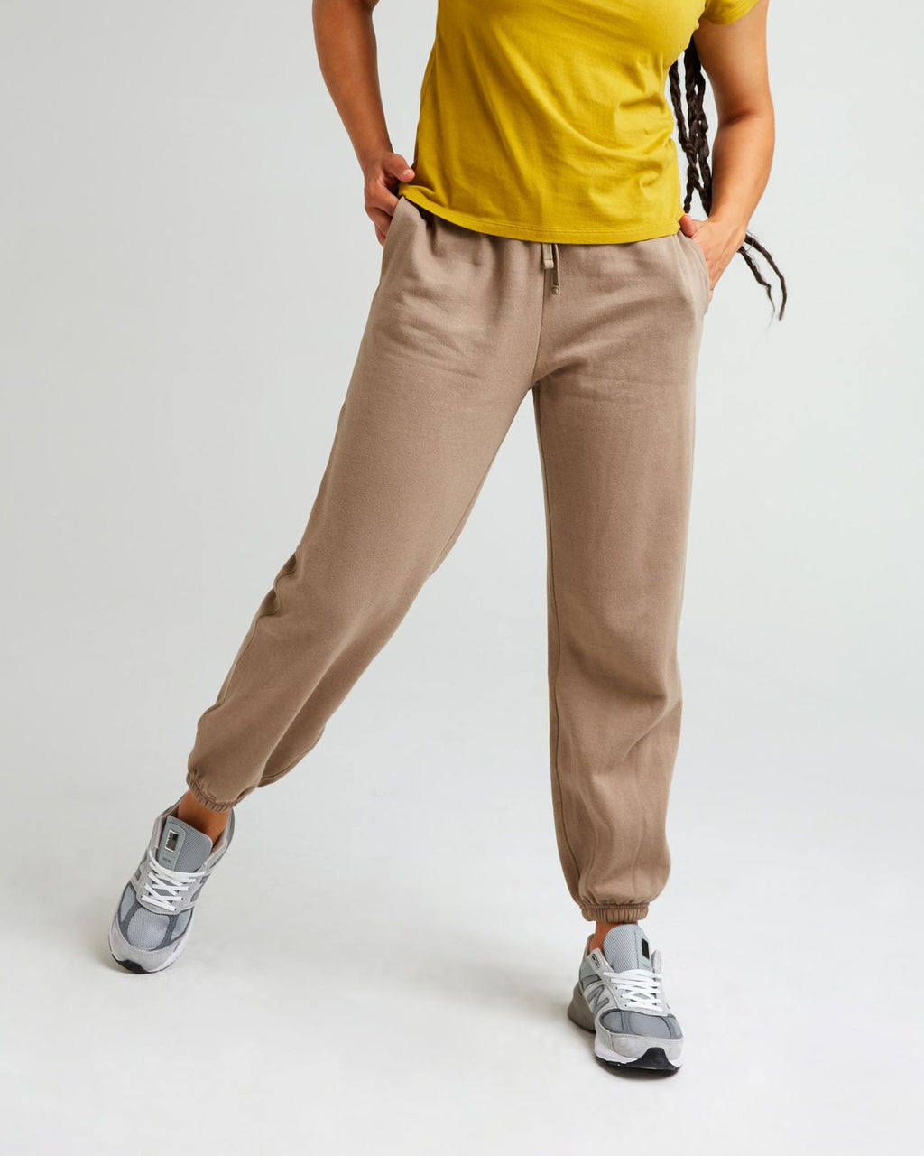 Women's Recycled Sweatpants- Warm Grey