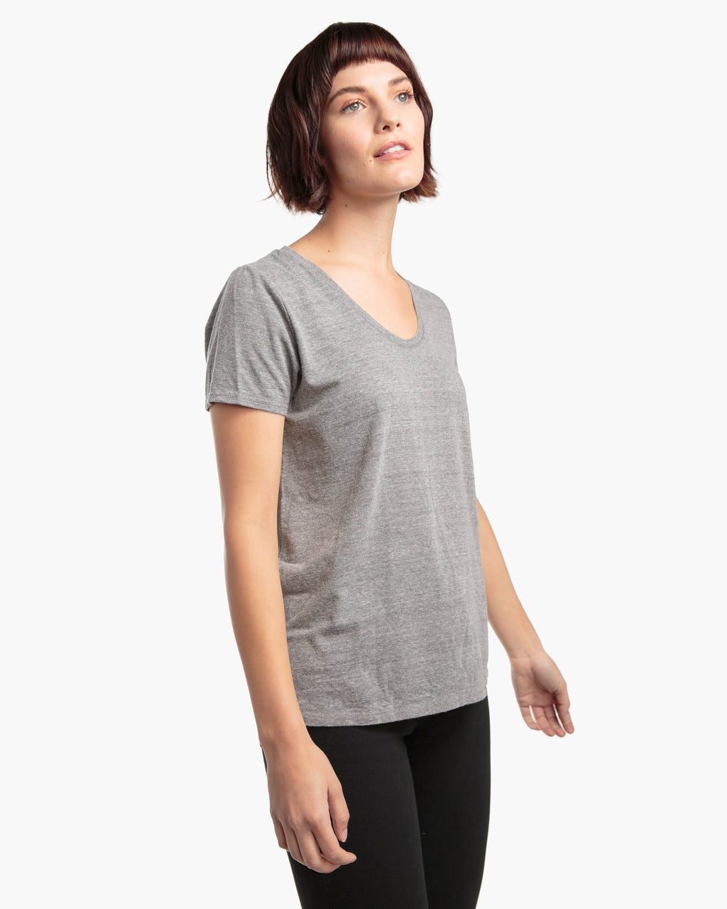Scoop V- Heather Grey