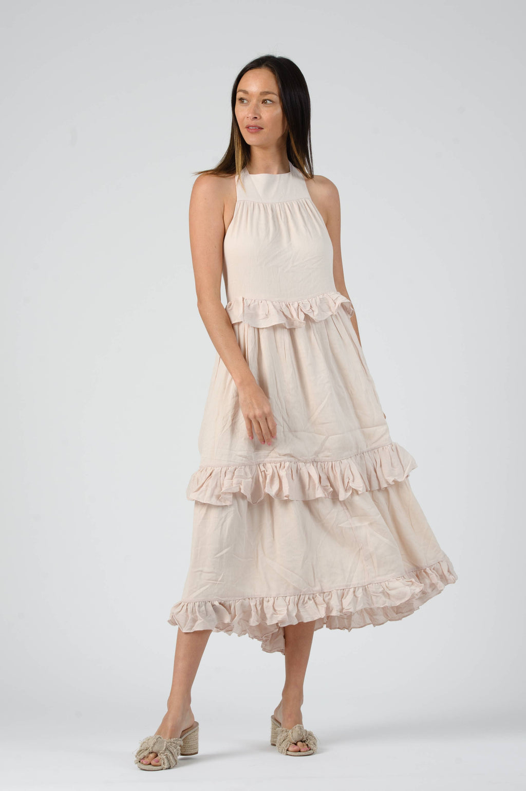 Tiered Crossback Dress