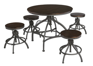 Odium Brown Dining Room Counter Table Set - Jaimes Furniture