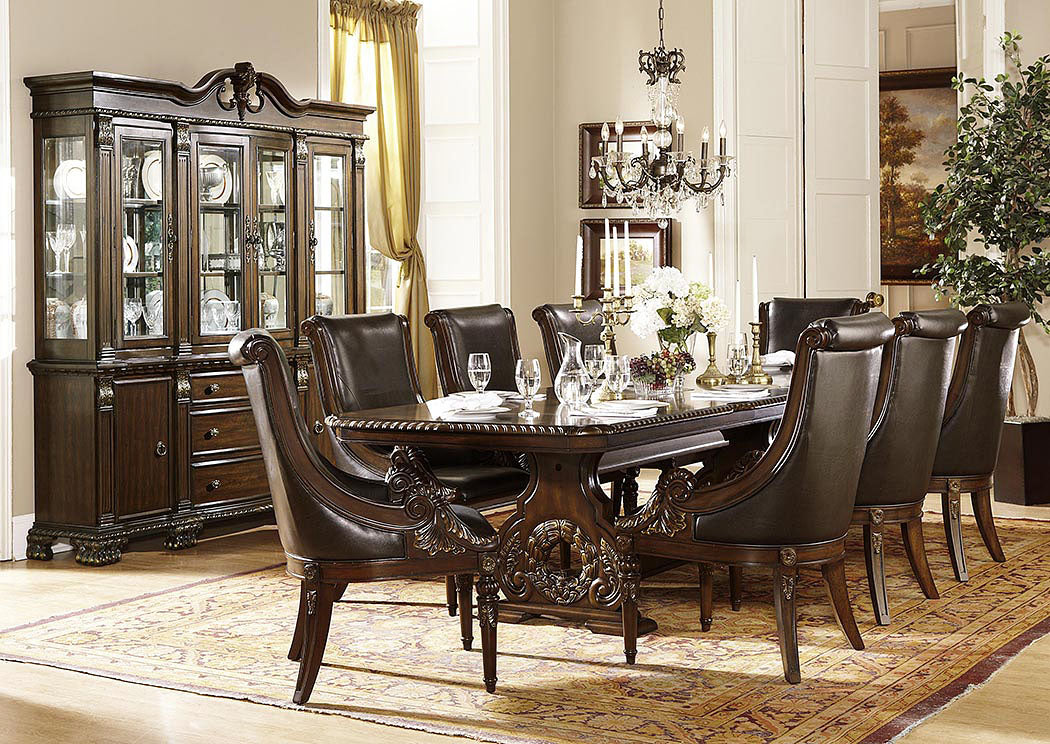 Orleans Rich Dark Cherry Buffet and Hutch - Jaimes Furniture