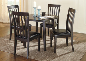 Hammis Round Drop Leaf Table w/4 Side Chairs - Jaimes Furniture