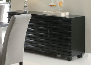 Stanton Black Server - Jaimes Furniture
