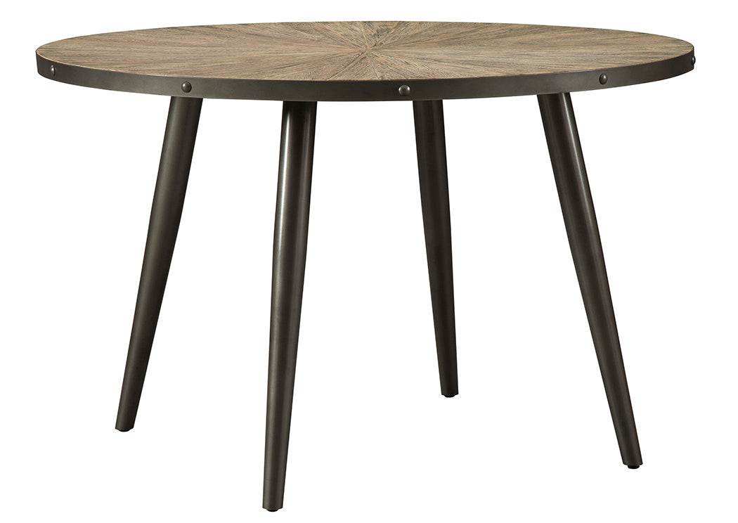 Coverty Light Brown Round Dining Table - Jaimes Furniture