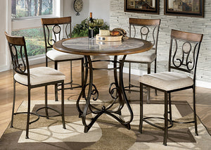Hopstand Counter Height Dining Table w/4 Barstools - Jaimes Furniture