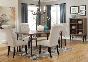 Tripton Rectangular Dining Table w/4 Side Chairs - Jaimes Furniture
