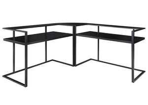 Laney Black Home Office Corner Desk - Jaimes Furniture