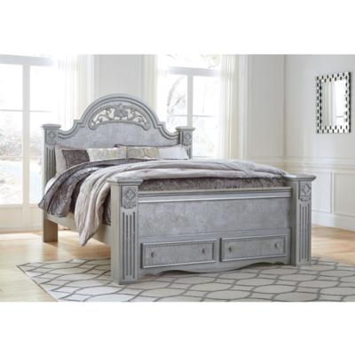 Zolena B357 King Poster Storage Bed (Beds - King) - Jaimes Furniture