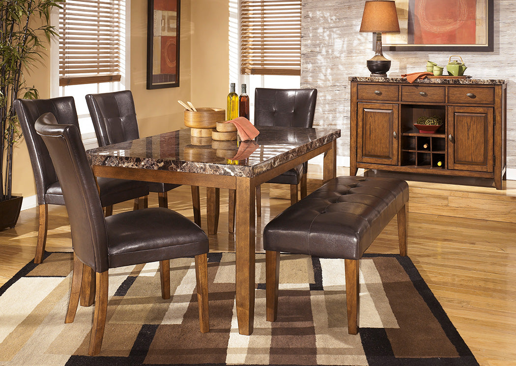 Lacey Rectangular Dining Table w/4 Side Chairs & Bench - Jaimes Furniture