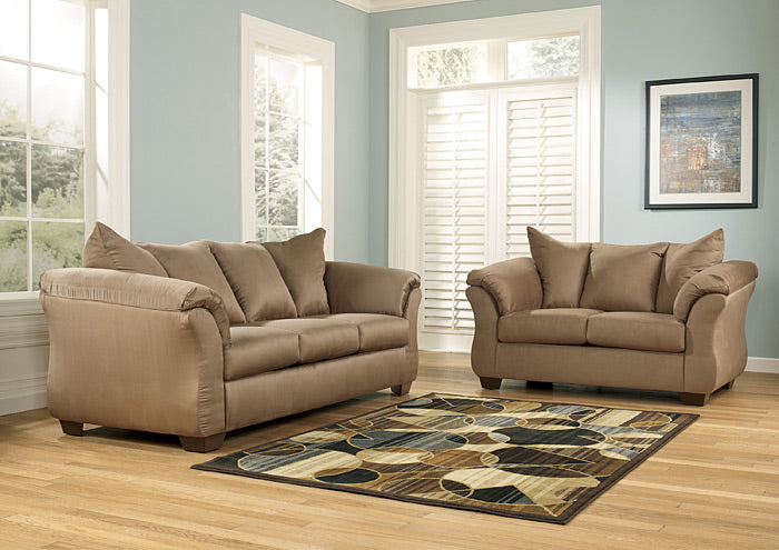 Darcy Mocha Sofa & Loveseat - Jaimes Furniture
