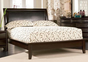 Phoenix Cappuccino Platform Queen Bed - Jaimes Furniture