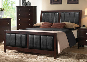 Solid Wood & Veneer Queen Bed - Jaimes Furniture