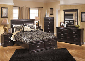 Esmarelda Queen Storage Bed - Jaimes Furniture
