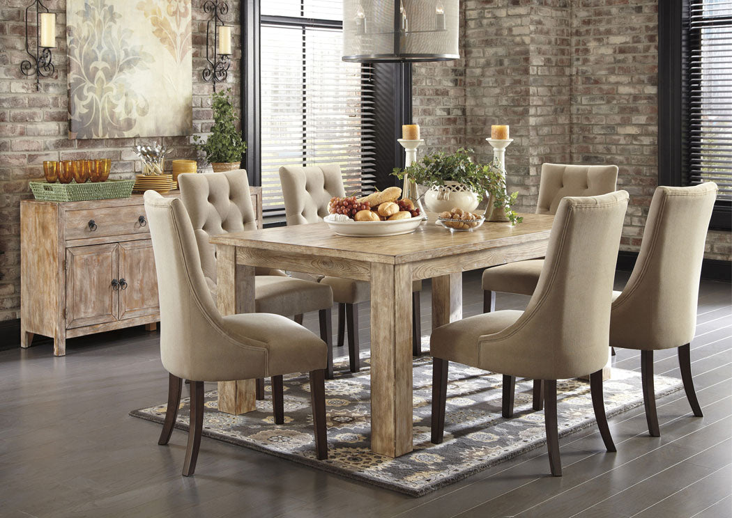 Pinnadel Rectangular Counter Table w/4 Gray Stools - Jaimes Furniture