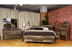 Derekson Multi Gray Queen Panel Bed - Jaimes Furniture