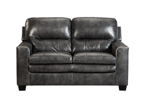 Gleason Charcoal Loveseat - Jaimes Furniture