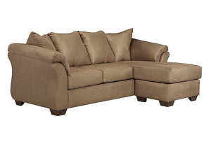 Darcy Mocha Sofa Chaise - Jaimes Furniture