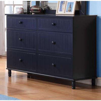 Zachary 400693 6-Drawer Dresser (Kids Dressers - 6 drawers) - Jaimes Furniture