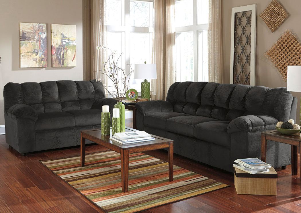 Julson Ebony Sofa & Loveseat - Jaimes Furniture