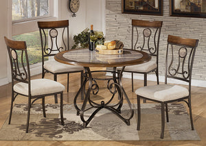 Hopstand Round Table w/4 Side Chairs - Jaimes Furniture