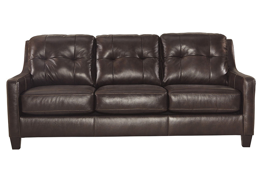 O'Kean Mahogany Sofa - Jaimes Furniture