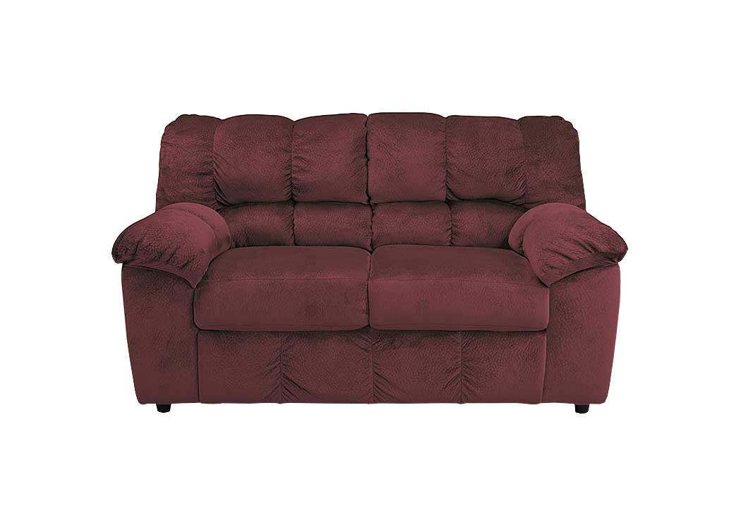 Julson Burgundy Loveseat - Jaimes Furniture